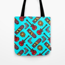 Back to the Future Pattern Tote Bag