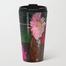 Still life with figs, onions and gerberas Travel Mug
