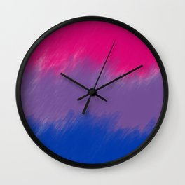 Bi Pride Flag Wall Clock