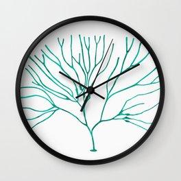 Watercolor coral III Wall Clock
