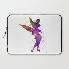 Tinker bell in watercolor Laptop Sleeve
