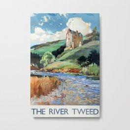 The River Tweed Vintage Travel Poster Metal Print