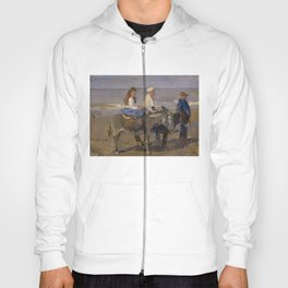 Boy and Girl Riding Donkeys - Isaac Israëls Hoody