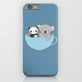 Kawaii Cute Koala and Panda iPhone Case