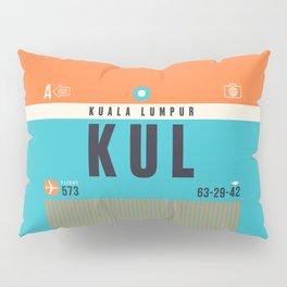 Baggage Tag A - KUL Kuala Lumpur Malaysia Pillow Sham
