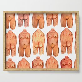 naked bodys Serving Tray