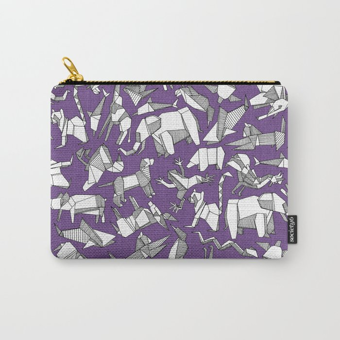 origami animal ditsy purple Carry-All Pouch