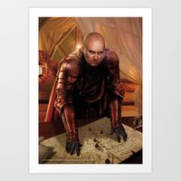 "lannister Art Prints featuring Tywin Lannister ""A Song of Ice and Fire"" (A Game of Thrones) by Magali Villeneuve"