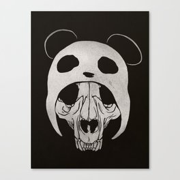 Panda Skull Canvas Print