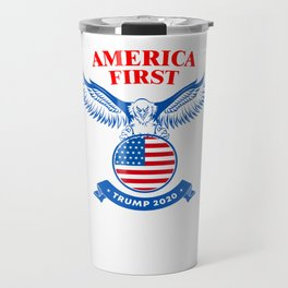 America First Trump 2020 Travel Mug