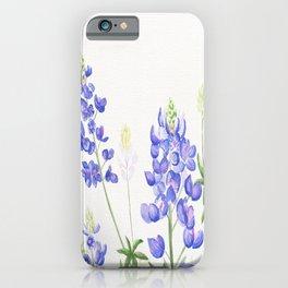 Bluebonnet Watercolor iPhone Case