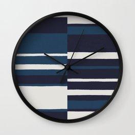 painted broken stripe-blue Wall Clock