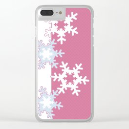 New year , snowflakes Clear iPhone Case