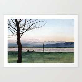 at Lake Constance Art Print