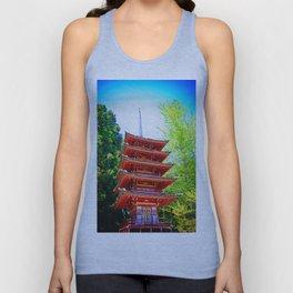 Japanese Pagoda Unisex Tank Top