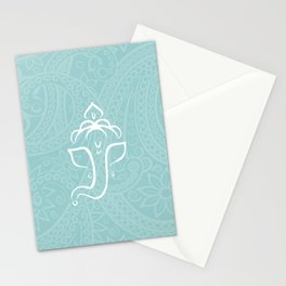 Blue Ganesh - Hindu Elephant Deity Stationery Cards