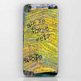 Europe by Seattle Artist Mary Klump iPhone Skin