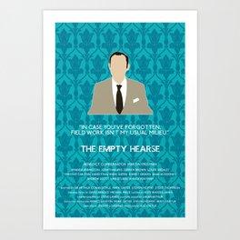 The Empty Hearse - Mycroft Holmes Art Print