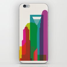 Shapes of Charlotte accurate to scale iPhone Skin