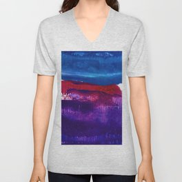 Encaustic Abstract No.27F by Kathy Morton Stanion Unisex V-Neck