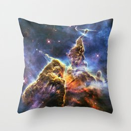 Carina Nebula Mystic Mountain Space Galaxy Throw Pillow