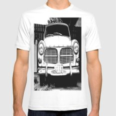 Old Volvo White 2X-LARGE Mens Fitted Tee