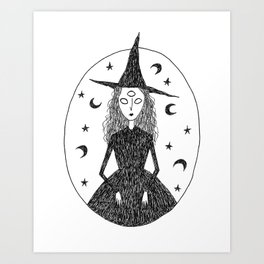 Oracle Witch Art Print