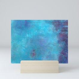 Blue Abstract Mini Art Print