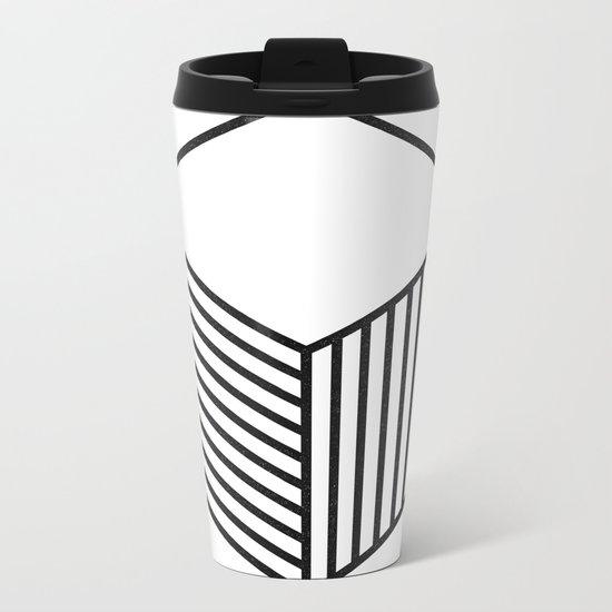 minimal & geometric no.4 Metal Travel Mug