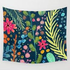 les prairies (navy) Wall Tapestry