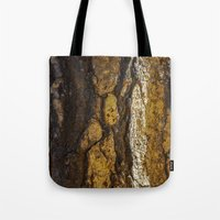 in the flesh Tote Bags featuring Flesh  by Liliana Scarlet Sedano