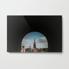 Royal Mile from Edinburgh Castle | Colourful travel photography | Edinburgh, Scotland Metal Print