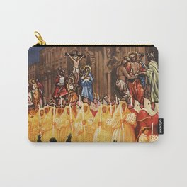 Italian travel ad Christian Easter procession Trapani Carry-All Pouch
