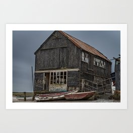 Seaside Wreck Art Print