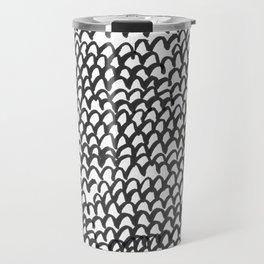 Hand painted monochrome waves pattern Travel Mug