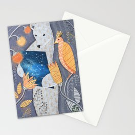Bear searching exit Stationery Cards