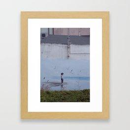 behind the sea Framed Art Print