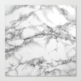 Marble - Gray Canvas Print