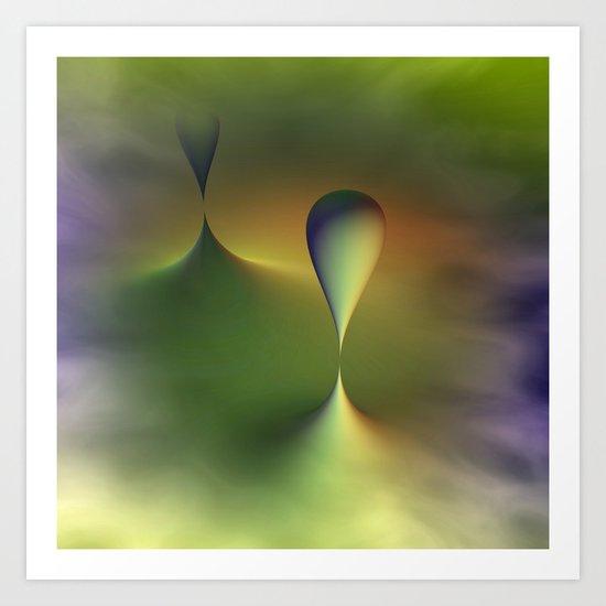 foggy geometry Art Print