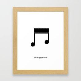 Musical Film Genre Icon Framed Art Print