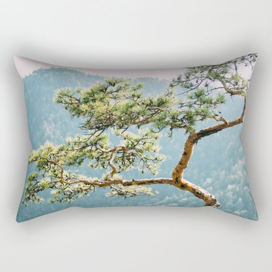 Sokolica Mountain Pine Tree Rectangular Pillow