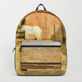 Julian Alden Weir - New England Barnyard - Digital Remastered Edition Backpack