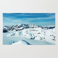 alaska Area & Throw Rugs featuring Alaska by Elise Giordano