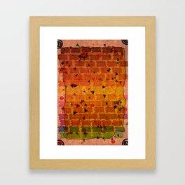 Relaxing Pattern Framed Art Print