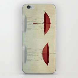 embracing the rain iPhone Skin
