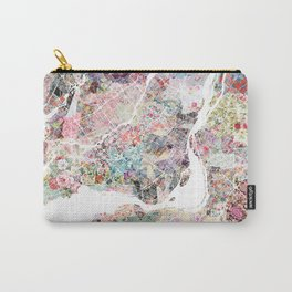 Montreal map - Landscape orientation Carry-All Pouch
