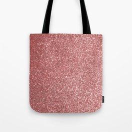 Blush Gold Rose Pink Shimmery Glitter Tote Bag