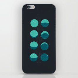 Moon phases iPhone Skin