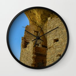 Multi-Storied Building at Mesa Verde Cliff Dwellings Wall Clock