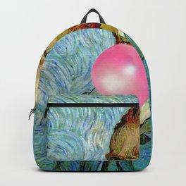 Bubble Gum Van Gogh pop art self portrait painting Backpack